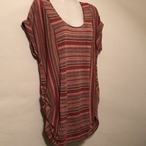 Two Hearts Maternity top multi color ruche side XL